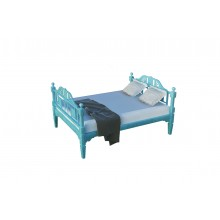 Colonial Imprint Bed Blue Dico Paint