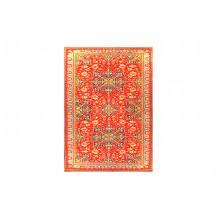 Resplendent Traditional Red Colour Printed Carpet In Cotton Finish