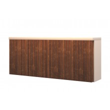 Robust Console Unit In Teak Wood And Corian Finish