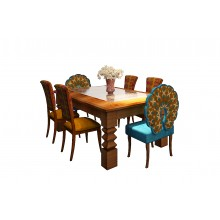 Statement  6-Seater Dining Set in Sheesham Wood Finish