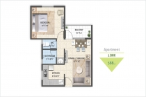 1 BHK APARTMENT 588 sq-ft