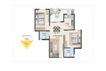 2 BHK APARTMENT 888 sq-ft