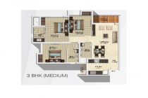 3 BHK APARTMENT 1950 sq-ft