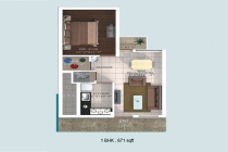 1 BHK APARTMENT 671 sq-ft