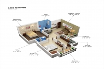 2 BHK APARTMENT 1070 sq-ft