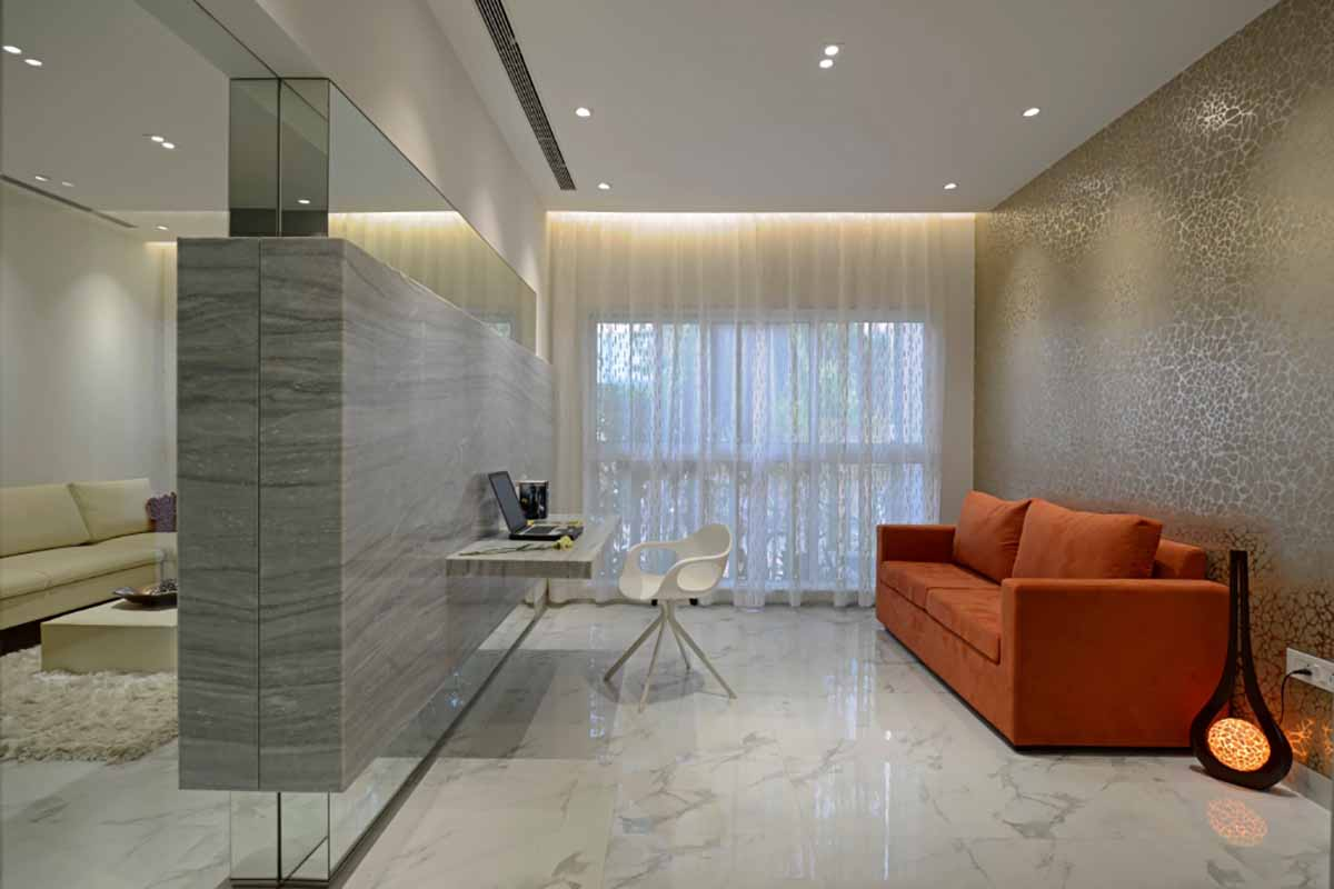 4 tips to make space look big using tiles - Big Tiles For Living Room