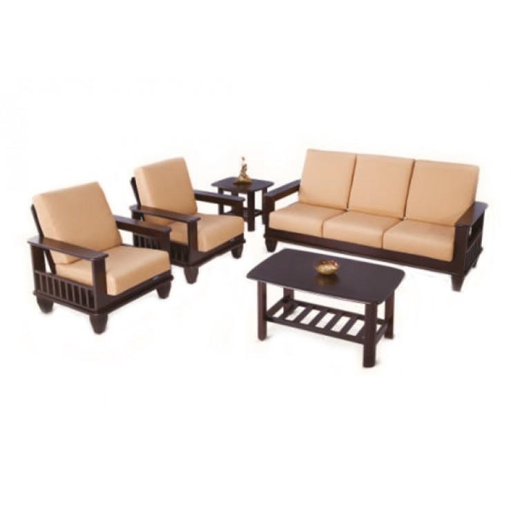 Nilkamal manhattan 5 seater sofa set 3 1 1 dark brown buy nilkamal manhattan 5 seater sofa - Types of tables for living room and brief buying guide ...