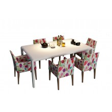 Confined Dining Table With 6 Seater