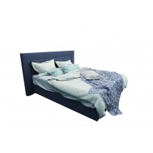 Radiating Vibe Queen Size Bed Blue Fabric