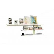 Radiating Vibe Custimized Study Racks with White Corean Material