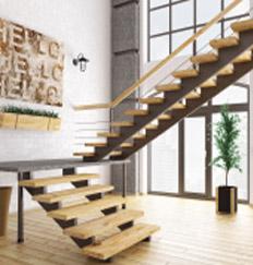 2Dog Legged Stairs: