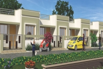 2 BHK ROW HOUSE 1100	 sq- ft