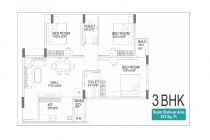3 BHK APARTMENT 972 sq- ft
