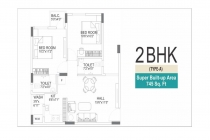 2 BHK APARTMENT 745 sq- ft